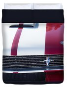 1966 Red Ford Mustang Shelby Gt350 Front Duvet Cover