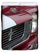 1966 Shelby  Gt 350 Grille Emblem Duvet Cover