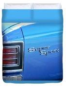 1967 Chevrolet Chevelle Super Sport Taillight Emblem Duvet Cover