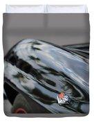 1967 Chevrolet Corvette Fender Emblem Duvet Cover