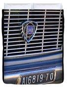 1967 Lancia Fulvia Berlina Grille Emblem Duvet Cover