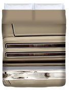 1967 Pontiac Firebird Back Lights Close Up Duvet Cover