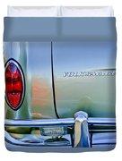 1967 Volkswagen Vw Karmann Ghia Taillight Emblem Duvet Cover