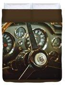 1968 Aston Martin Db6 Steering Wheel Emblem Duvet Cover