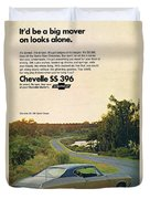 1968 Chevrolet Chevelle Ss 396 - It'd Be A Big Mover On Looks Alone. Duvet Cover