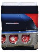 1968 Chevrolet Impala Ss Taillight Emblem Duvet Cover