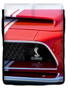 1968 Ford Mustang 427 Ci Fastback Grille Emblem Duvet Cover