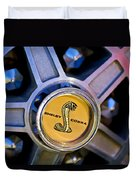1968 Ford Shelby Gt500 Kr Convertible Wheel Emblem Duvet Cover