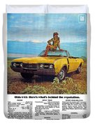 1968 Oldsmobile 4-4-2 - Here's What's Behind The Reputation. Duvet Cover