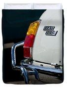 1969 Fiat 500 Taillight Emblem Duvet Cover