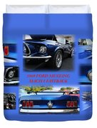 1969 Ford Mustang Mach 1 Fastback Duvet Cover