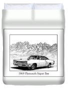 1969 Plymouth Super Bee Duvet Cover by Jack Pumphrey