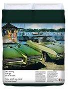 1969 Pontiac Gto And Firebird Duvet Cover