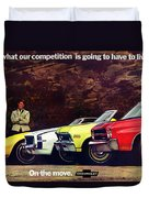 1970 Chevrolet Lineup - This Is What Our Competition Is Going To Have To Live With. Duvet Cover