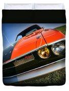 1970 Dodge Challenger Rt Hemi Orange Duvet Cover