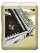 1970 Jaguar Xk Type-e Emblem Duvet Cover