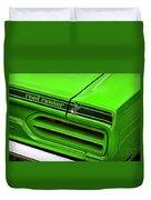 1970 Plymouth Road Runner - Sublime Green Duvet Cover