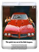 1970 Pontiac Gto - The Quick Way Out Of The Little Leagues. Duvet Cover