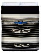 1971 Chevrolet Nova Ss350 Grille Emblem Duvet Cover