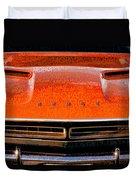 1971 Dodge Challenger - Orange Mopar Typography - Mp002 Duvet Cover
