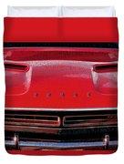 1971 Dodge Challenger - Red Mopar Typography Duvet Cover