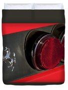 1972 Ferrari 365 Gtc-4 Emblem Duvet Cover