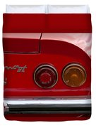 1972 Ferrari Dino 246gt Taillight Emblem Duvet Cover