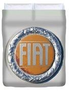 1977 Fiat 124 Spider Emblem Duvet Cover