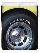 1980 Chevrolet Corvette Wheel Duvet Cover