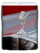 1984 Rolls-royce Silver Spur Hood Ornament Duvet Cover