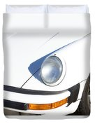 1987 White Porsche 911 Carrera Front Duvet Cover by James BO  Insogna