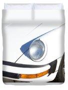 1987 White Porsche 911 Carrera Front Duvet Cover