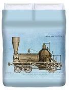 19th Century Locomotive Duvet Cover