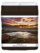 Red Rock Beach Duvet Cover