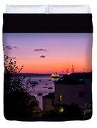 Sunrise Falmouth Docks Duvet Cover