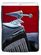1935 Packard Hood Ornament Duvet Cover