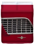 1960 Maserati 3500 Gt Coupe Emblem Duvet Cover