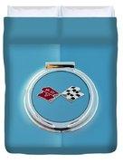 1967 Chevrolet Corvette Emblem Duvet Cover