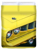 1971 Plymouth Cuda 440 Duvet Cover