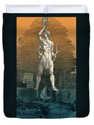 7 Wonders Of The World, Colossus Duvet Cover by Photo Researchers