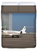 A Bombardier Global 5000 Vip Jet Duvet Cover