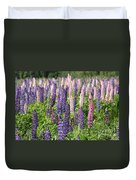 A Field Of Lupins Duvet Cover