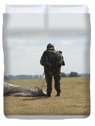 A Member Of The Pathfinder Platoon Duvet Cover