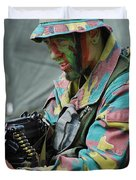 A Paratrooper Of The Belgian Army Duvet Cover