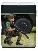 A Soldier Of An Infantry Unit Duvet Cover