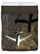 A U.s. Air Force E-3 Sentry Aircraft Duvet Cover