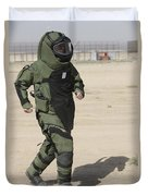 A U.s. Marine Tries Running In A Bomb Duvet Cover