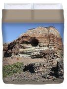 Abandoned Manganese Mine At Cape Vani Duvet Cover