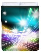 Abstract Of Stage Concert Lighting Duvet Cover by Setsiri Silapasuwanchai