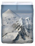Aerial View Of Shishaldin Volcano Duvet Cover